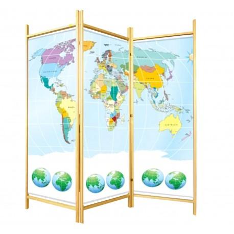 Parawan edukacyjny dziecięcy  Mapa